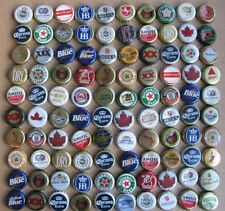 100 MIXED NON U.S.A BEER BOTTLE CAPS