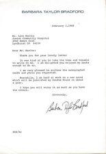 Barbara Taylor Bradford Signed 1989 Typed Letter