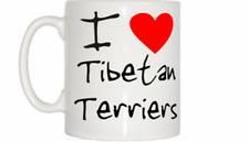 I Love Heart Tibetan Terriers Mug