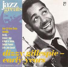 DIZZY GILLESPIE - Early Years (EU 21 Tk CD Album) (Jazz Greats Volume 28)