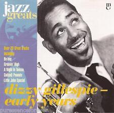 DIZZY GILLESPIE - Early Years (EU 21 Tk CD Album) (Jazz Greats Volume 28)