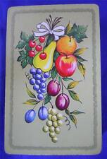 Whitman Fruit Playing Cards Deck Retro Apples Pears Grapes Cherries Vintage