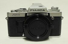 Silver FUJICA AX-3 35mm SLR Film Camera Body Only Tested Meter Working Clean