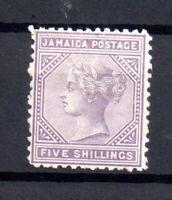 Jamaica QV 1875 5/- lilac mint MH SG#15 WS15312