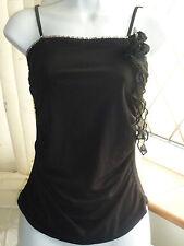 FRIME Paris Black Diamonte Sexy Top Blouse Size 8 - 10 BNWOT XMAS