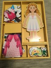 Melissa & Doug Deluxe Princess Elise Magnetic Wooden Dress-Up Doll Play Set (24