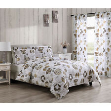 Twin, Full/Queen or King Dog Puppy Themed Pet Lover Comforter Bedding Set, Brown