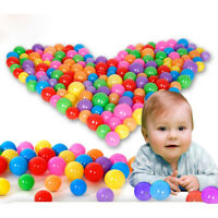 10x 70mm Colorful Ball Fun Balls Soft Plastic Ocean Balls Baby Kid Swim Toys YNW