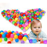 10x 70mm Colorful Ball Fun Balls Soft Plastic Ocean Balls Baby Kid Toy Swim !D