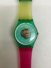 Vintage Ladies Swatch Watch - Liquid Sky LG104 '88 The Originals range - v. rare