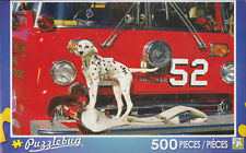 "Jigsaw Puzzle DALMATION DOG RED FIRETRUCK 500 Piece 18.25"" x 11"" Puzzlebug"