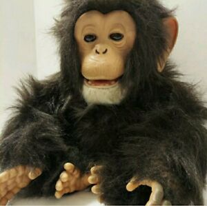 FurReal Friends Cuddle Chimp Chimpanzee Interactive Plush Monkey Toy Tiger 2005