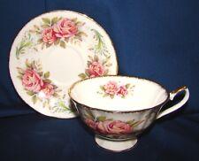 Elizabethan Bone China Anniversary Rose Series Handel Cup & Saucer Pink Roses