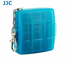 JJC Blue Memory Card Case for Nintendo Switch Game Card × 4 + Micro SD card × 4