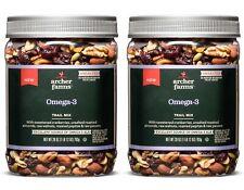2 Pack Archer Farms Omega-3 Trail MIx - 28 oz Plastic Jars
