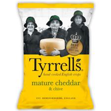 Tyrrells Crisps   Mature Cheddar & Chive Flavour   Full Case 24x40g