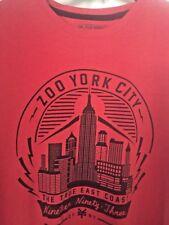 MENS ZOO YORK RED SLEEVELESS T- SHIRT. LARGE. NWT