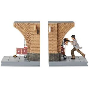 Bookends Harry Potter with Luggage on Train Platform 9 3/4