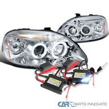For 96-98 Civic Chrome Halo LED Projector Headlights+H1 6000K HID Conversion Kit