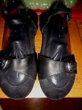 VIONIC ORTHOHEEL 11M BLACK LEATHER SLING BACK ANKLE STRAP XLNT. CONDITION