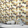 Tile Stickers Transfers Kitchen Bathroom 150mm & Custom Sizes - Mosaic Hexagon
