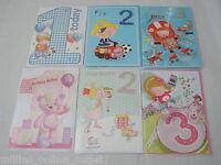 Age 1 to 21 Cards Male Female Boy Girl Birthday Card Choice of Designs Cutie