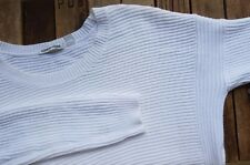 COUNTRY ROAD WHITE COTTON JUMPER SWEATER KNIT - SIZE M chunky rib top 12