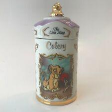 Lenox Porcelain 1995 Walt Disney Collection Celery Spice Jar Lion King Simba