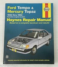 Haynes Repair Manual Ford Tempo/Mercury Topaz 1984-1994 1985 1986 1987 1988 1989