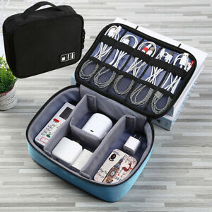 Travel Cable Bag USB Gadget Organizer Charger Wires Cosmetic Storage Pouch Case