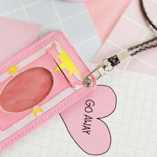 Cute Cardcaptor Sakura Kinmoto Bus Pass Card Holder Pink Business Card Case Gift