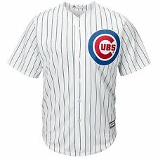 Majestic Athletic Chicago Cubs Cool Base Blank White Pinstripe Jersey L