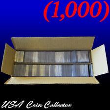 (1000) 2x2 Double Pocket Vinyl Coin Flips for Storage - Plastic Holders   Bulk