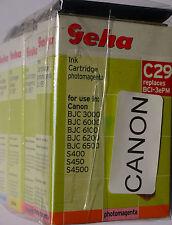 (PRL) LOTTO CARTUCCE INCHIOSTRO GEHA C29 COMPATIBILE PER CANON INK CARTRIDGE LOT