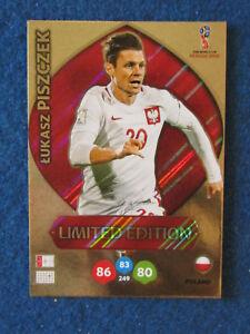 Panini Adrenalyn XL World Cup Russia 2018 Lukasz Piszczek Poland Limited Edition