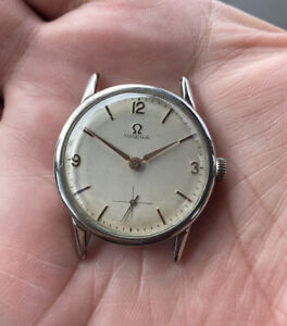 VINTAGE OMEGA  (CHROME) WORKING (HAND WINDING)CALIBER 269 (SOLD AS IS )