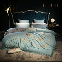 American Embroidered Luxury Egyptian Cotton  Bedding Set 4pcs Bed Set Bed Sheet