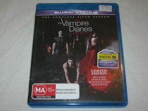 The Vampire Diaries - Complete Season 5 - 5 Disc Set - VGC - Region B - Blu Ray