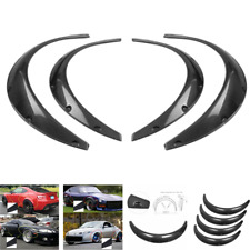 Carbon Fiber 4pcs Fender Wheel Arches Flare extension flares wide 4 arches set