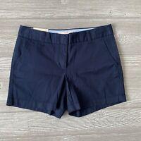 New J.Crew Chino blue city Shorts Womens Size 4