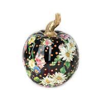 MacKenzie-Childs Flower Market Pumpkin - Small - Black