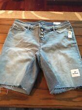 Old Navy Women's Bermuda Jean Shorts, Size 16 Plus, NWT