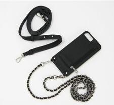 HERA Crossbody secure iPhone Plus Cards Cash - Hands Free Case - Black - Stylish