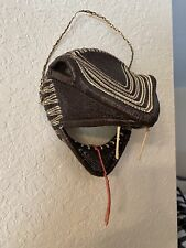 Wicker Raffia Snake Head Tribal Boho Wall Decor