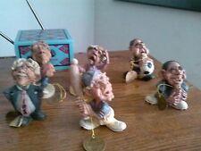 6 NWT Calabar Creations Male Figurines - Original Packaging - RARE! FREE SHIP!