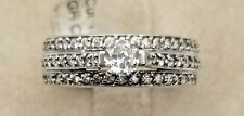 Certified Women 14K White Gold Round Solitaire 1 Ctw .35 Ct VS2 Diamond Ring