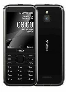 "Nokia 8000 4G Dual SIM 2.8"" Black Snapdrago 210 FM radio Phone CN FREESHIP"