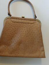 Vintage purse, brown, ostrich print