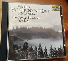 Sibelius Sym No 2 Finlandia CD - orig Telarc 80095 1984 Japan Matsushita press