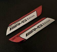 2 X MERCEDES  Benz ///AMG EDITION Side Wing Fender Badge Emblem  New Uk